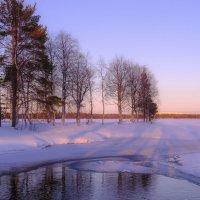 закат у берега озера :: Георгий