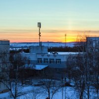 Закат зимой.. :: Юрий Стародубцев