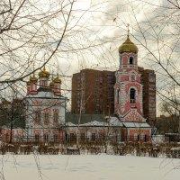 Стретенская церковь в сумраке марта. :: Анатолий. Chesnavik.