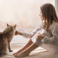 Девочка и кот :: Лариса Фомина