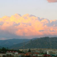 Туча освещённая вечерним солнцем. :: barsuk lesnoi