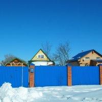 Синее небо, синий забор... :: ЕСЕНИЯ ♥