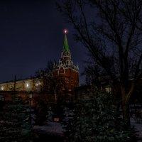Час земли. Троицкая башня. :: Сергей Филатов