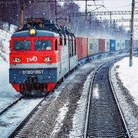 эРка с контейнерным поездом :: Алексей Белик