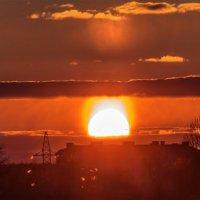 Солнечное гало на закате. 15.03.2018 :: Анатолий Клепешнёв
