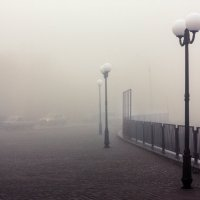 Туман в городе... :: Сергей