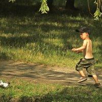 Мальчик играющий с голубем. :: barsuk lesnoi
