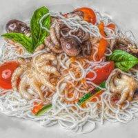 Фунчоза с морепродуктами, ооочень вкусно! :: Натали Пам