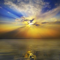 Закат над озером :: Сергей Цветков