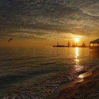 Теплый закат Азова :: Нилла Шарафан