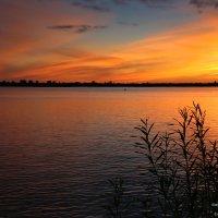 Закат над Северной Двиной :: Татьяна Варфоломеева