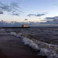 Вечер на Чудском озере :: Дарья Серебрякова