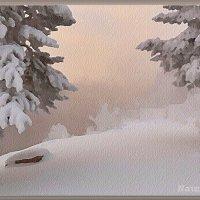 Снежная и морозная акварельная зима :: Лидия (naum.lidiya)