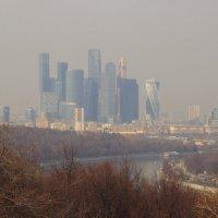 Вид со смотровой площадки МГУ :: Андрей Лукьянов