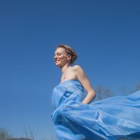 Девушка в голубом :: Виктория Балашова
