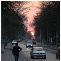 Городской закат :: Леонид Школьный