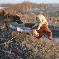 Сидела Соня на бугорке и любовалась закатом, как вдруг... :: Владимир Исаев