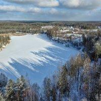 Зимние Печоры с высоты :: Дмитрий Погодин