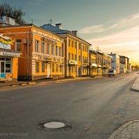 Набережная в лучах Заката Рыбинск :: Горелов Дмитрий