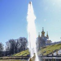 Первый фонтан Петродворьца пустили (11 апреля) :: Георгий