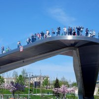 Парящий мост в Зарядье :: Валерий Судачок
