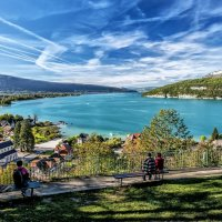 Beautiful panorama of Lake Annecy :: Dmitry Ozersky