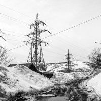 Линии электропередач в пейзаже :: Елена Кириллова