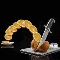 нож и апельсин :: Сергей Борденов