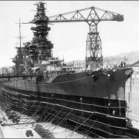 "Imperial Japanese Navy battleship ""Fuso"" in drydock, Kure, Japan, April 28th 1933. :: Александр"