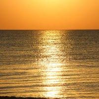 Золотой закат на море. :: Лариса Исаева