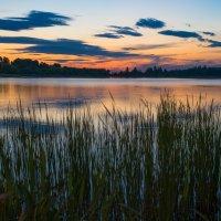Июньский закат на Лебяжьем озере. :: Виктор Евстратов