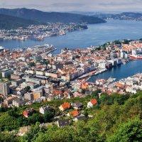 г.Берген(Норвегия)с высоты :: михаил
