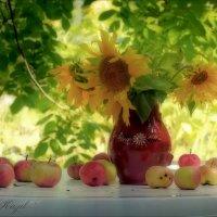 Под яблонькой в саду.... :: Елена Kазак
