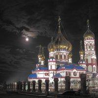 В лунном и звездном сиянии Храм Рождества Христова :: Нина северянка
