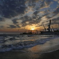 Закат в порту :: Нилла Шарафан
