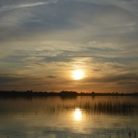 Закат на заливе. Июньский штиль. :: Виктор