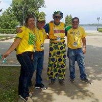 Бразилиц, посетивший 14 ЧМ по футболу, с друзьями в Самаре :: MILAV V