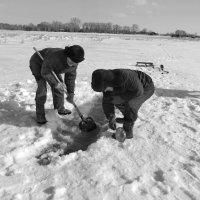 Весенняя рыбалка на гольяна :: Светлана Рябова-Шатунова