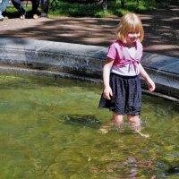 Бредущая в водах фонтана... :: Sergey Gordoff
