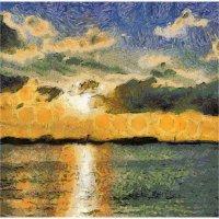 Кронштадтский  закат в духе Ван Гога... :: Tatiana Markova