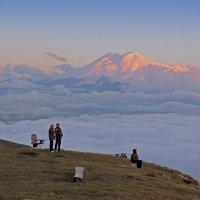 Вид на Эльбрус с горы Бермамыт 2592 м,от уровня моря. :: Nik Зонов