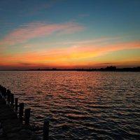 закат на озере Саки :: Антонина Владимировна Завальнюк