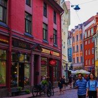 Цветные дома в Риге :: Alla S.