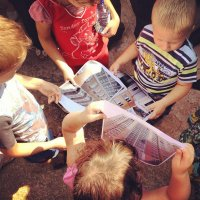 маленькие жители Звенигорода изучают Стройплан :: Юлия Годовникова