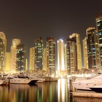 Dubai Marina at night :: Aliona Kamdina