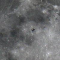Пролет Международной Космической Станции(МКС) перед Луной :: Алексей Поляков