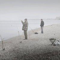 Туман. Рыбалка. Утро. :: Ольга Мальцева