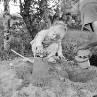 С дедом в песочнице :: Светлана Рябова-Шатунова