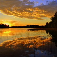 облако на закате :: Антонина Мустонен