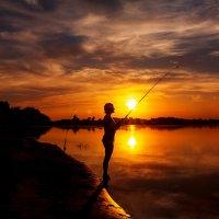 Рыбалка... Закат..... Тишина.... :: Анастасия Дробышевская